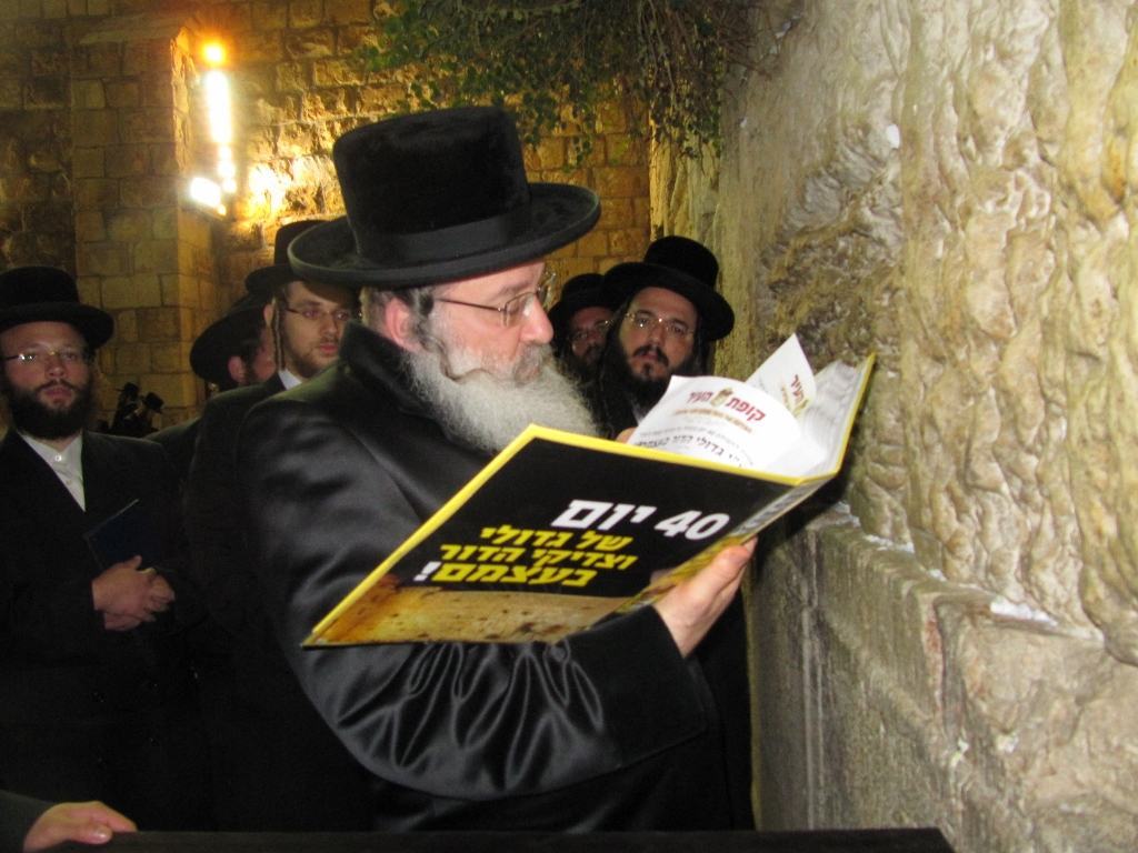 40 Days of Tefilloh at the Kosel by the Gedolei Hador Themselves